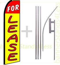 For Lease Swooper Flag Kit Feather Flutter Banner Sign 15' Set - q