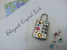Mini Padlock Combination lock in GEM stone Crystal