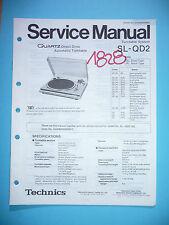 Service Manual für Technics SL-QD2  ,ORIGINAL