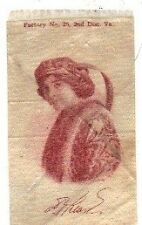 1910 Old Mill S72 Ms Keane Actress Tobacco Silk Cigarettes Brown on white