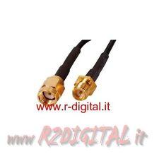 PROLUNGA RP-SMA 10 METRI ADATTATORE INTERNET ANTENNE WIFI ANTENNA ROUTER GOLD