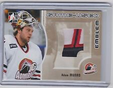05-06 2005-06 ITG HEROES AND PROSPECTS ADAM MUNRO EMBLEM GOLD /10 47 BLACKHAWKS