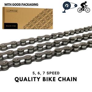Grey Steel Bicycle Chain 5, 6, 7 Speed Gear Mountain Bike Road Hybrid Cycle UK