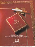 DUNHILL - ANNONCE PUBLICITAIRE 1991 GERMANY ADVERT - COUPURE MAGAZINE
