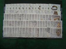 BRD - Steckkarte mit MiNr. 1383, 1384, 1386, 1333 u. 1336, gestempelt,je 1 Reihe