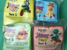1986 McDonald's toys Muppet Babies set of 4 MIP Happy Meal Muppet figures Gonzo