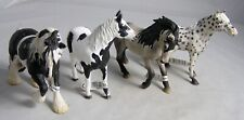 Schleich Lot Of 4 Horses With Tags Made in Germany Exc.
