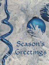 "*Postcard-""Christmas-""Seasons Greetings"" -White Tree- /See Desc./ (N4)"