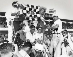 BEAUTIFUL NASCAR SUPERSTAR FIREBALL ROBERTS  8X10 PHOTO W/ BORDERS