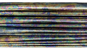 Metallic Gasoline distressed petrol holographic lambskin lamb 8sqf 0.7mm #A7186