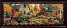 Deer Valley By Mark Daehlin  with John Deere farm  Print Framed