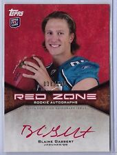 2011 Topps Red Zone Blaine Gabbert On Card Red Ink Auto Rc Serial # to 100