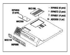 Ritter Midmark M11 Top Cover Kit, RPI Part #MIK197  OEM Part #002-0503-00