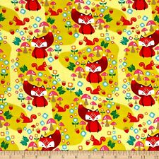 Riley Blake Cotton Jersey Knit Acorn Main Citron 95%Cotton 5% spandex KNIT