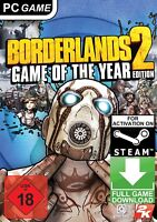 Borderlands 2 Game of the Year Edition GOTY PC Global Steam Game (NO CD/DVD)
