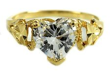 Women's 1.50 ct Heart Simulated Diamond Solitaire Ring in 18k Solid Yellow Gold