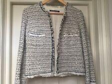 """Comptoir des Cotonniers Cotton mix Tweed / Boucle Jacket, size """"36"""" FR"""