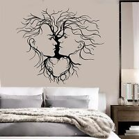 Vinyl Wall Decal Loving Couple Abstract Tree Romantic Decoration Stickers (254ig