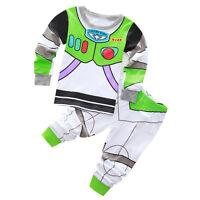 Toddler Kids Boy Girl Cartoon Sleepwear Cotton Nightwear Pj's Pyjamas Set Outfit
