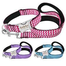 Nylon Personalized Dog Collar Leash Soft Padded Custom ID Free Engraved Labrador