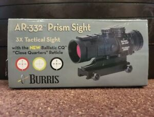 NEW! Burris AR-332 Tactical 3x32mm Prism Sight / Rifle Scope - Red/Green Dot