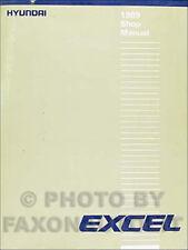 1989 Hyundai Excel Shop Manual 89 Original Repair Service Book GL GS GLS OEM