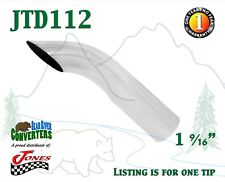 "1.5"" Chrome Turn Down Exhaust Tip 1 1/2"" Inlet / 1 3/4"" Outlet / 8"" Long"