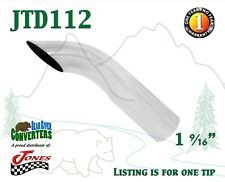 """JTD112 1.5"""" Chrome Turn Down Exhaust Tip 1 1/2"""" Inlet / 1 3/4"""" Outlet / 8"""" Long"""