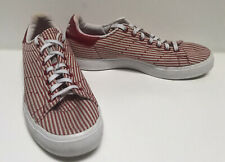 adidas Stan Smith Men's Red & White Striped Athletic Shoes Size 8.5