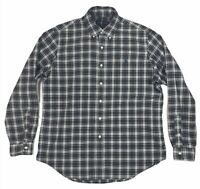 5333 POLO RALPH LAUREN Mens Large Button Up Down Long Sleeve Plaid Shirt Pony