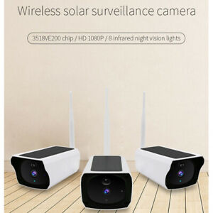 1080P HD Solar WiFi Camera IP Waterproof Outdoor Charging Battery Wireless