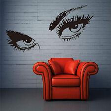 1x Eyes Big Eye Lashes Wink Decorations Wall Beauty Art Mural Vinyl Decal