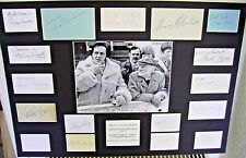 STEPTOE AND SON RIDE AGAIN SIGNED BY 17 AUTOGRAPH DISPLAY UACC SCARCE & UNIQUE