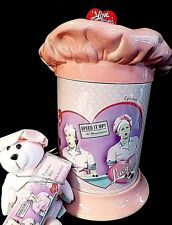 I LOVE LUCY cookie jar~Ceramic HAT&base~Chocolate Factory~BONUS= bear& candy bar