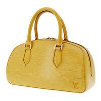 Louis Vuitton Jasmine Hand Bag Yellow Epi Leather M52089 France Auth #AC553 Y