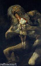 Francisco de Goya  Saturn Devouring His Son, Devoration Giclee Canvas Print