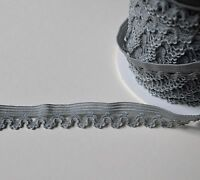 Decorative elastic lace braid stretch trim 16 mm wide for sewing crafts lingerie