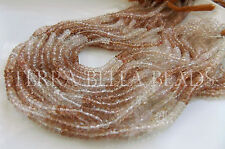 "13"" strand shaded natural IMPERIAL TOPAZ faceted gem stone rondelle beads 4mm"
