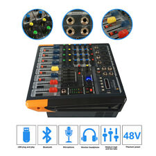STARAUDIO Professional 4 Channel 2000W Powered Audio Mixer MP3 Bluetooth Mixer