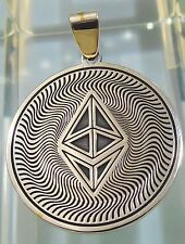 Ethereum Coin Your personal QR wallet Pendant Jewelry 925 sterling silver ETH