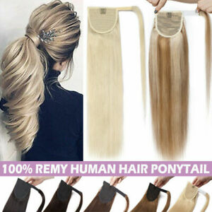 """Long Straight High Clip in Ponytai 100% Virgin Remy Human Hair Extension 15""""-22"""""""