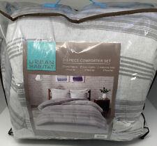 Urban Habitat Cole Jersey Knit 3 Piece Full Queen Comforter Set Grey