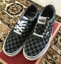 Men's Size 9 Vans (Checkered) Black/Pewter VN0A38mTFEO0 Box ID 333