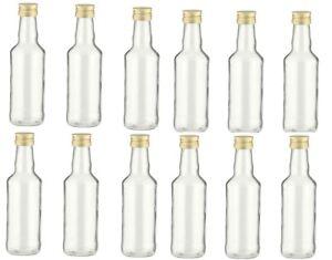 leere Glasflaschen 200 ml Likörflasche Schnapsflasche 0,2 liter Saft-flasche !!!