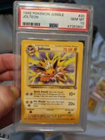 Psa 10 Jolteon (ONLY 25 IN THE WORLD) Non Holo 1999 Jungle #20 Vintage Pokemon