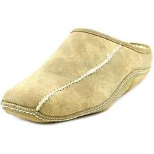 Pantofole da uomo beige 100% pelle