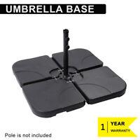 4 Pcs Patio Umbrella Base Stand Garden Yard Outdoor Parasol Holder Square Black