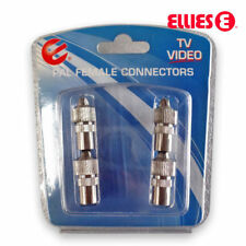 2 x PAL Female Socket Connector TV Antenna Cable Adapter - Premium Quality