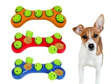 Dog Pet Paw Puzzle Feeder Bone Toy Boredom Breaker Interactive Foraging Bowl