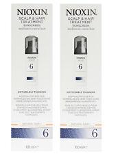 2 x NIOXIN Scalp & Hair Treatment 6 Thinning Hair & Sunscreen 200ml (2x100ml)